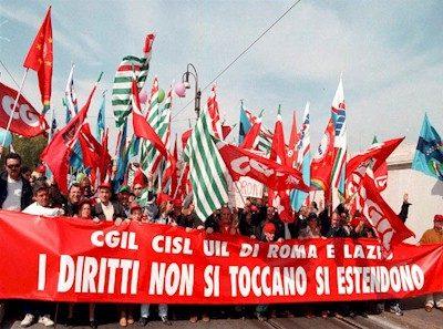 Lo sciopero dei lavoratori