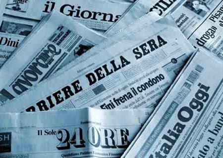 La percentuale dei giornali letti al giorno